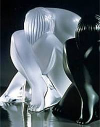Lalique Sitting Nude (clear) Figurine